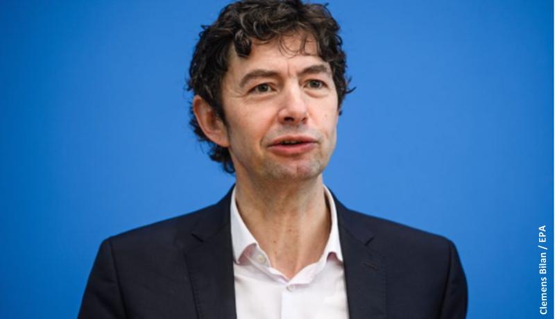 O virologista alemão Christian Drosten