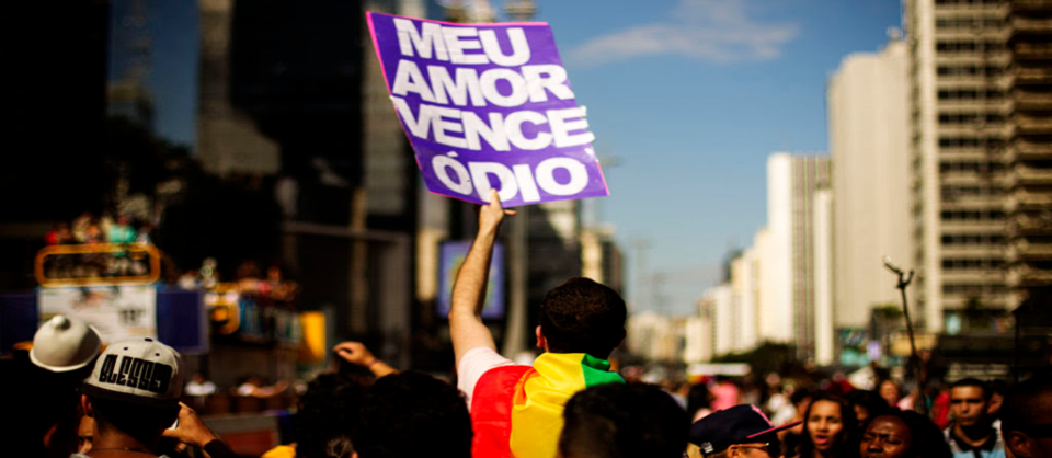 Parada do Orgulho LGBT em São Paulo, 2015. Foto: Fotos Públicas/Leo Pinheiro