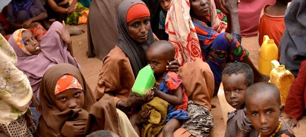 Esta jovem mãe andou 20 dias de Diinsoor, na Somália, com seus sete filhos para o campo de refugiados de Hagadera, em Dadaab, no Quênia. Depois que o gado de seu marido morreu por causa da seca na Somália, ela foi para Dadaab devido à fome. Foto: OCHA/Mer